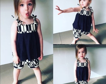 Swing Top and Bloomers Set, Tribal Print Outfit, Photoshoot Outfit, Baby Girl Set, Baby Summer Set, Boho Baby Outfit, Baby Shower Gift
