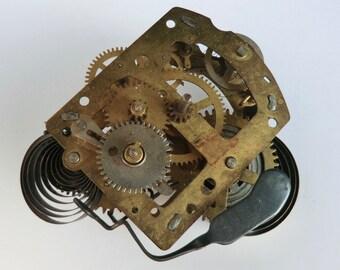 Vintage Steampunk Clock Supply Watch Gears Parts Supplies Assemblage Art