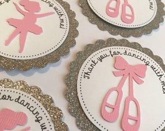 Ballerina Favor Tags - Favor Thank you tags - Ballerina Birthday - Ballerina Baby Shower - Ballet Party