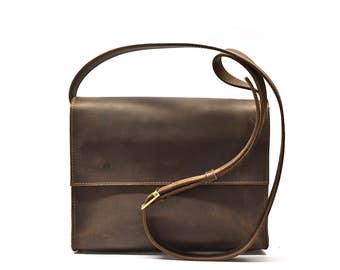 Women's leather bag,  leather handbag, leather crossbody bag, leather shoulder bag, leather handbag, cross body bag, women's brown bag