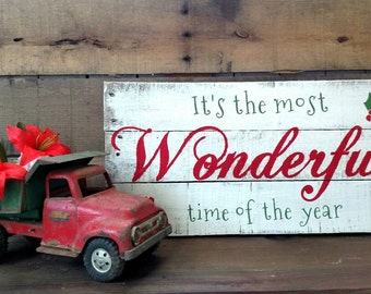 Christmas Sign, Holiday Sign, Rustic Christmas Sign