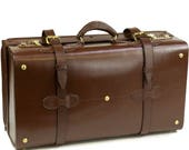 Exclusive Retro Style Brown Leather Cabin Case Size 22