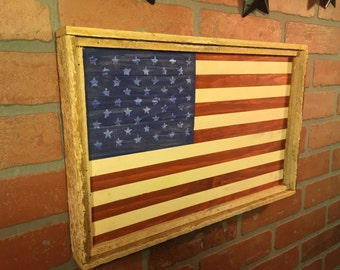Rustic American flag, American Flag, Rustic USA, Flag decor, Americana, American Flaf decor, USA, Farmhouse, wall decor