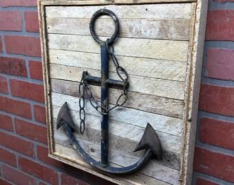 Anchor, Metal Anchor, Anchor Decor, Anchor Wall Decor, Beach House Decor, Beach House Wall Art, Nautical Decor, Naitical Wall Decor, Ocean
