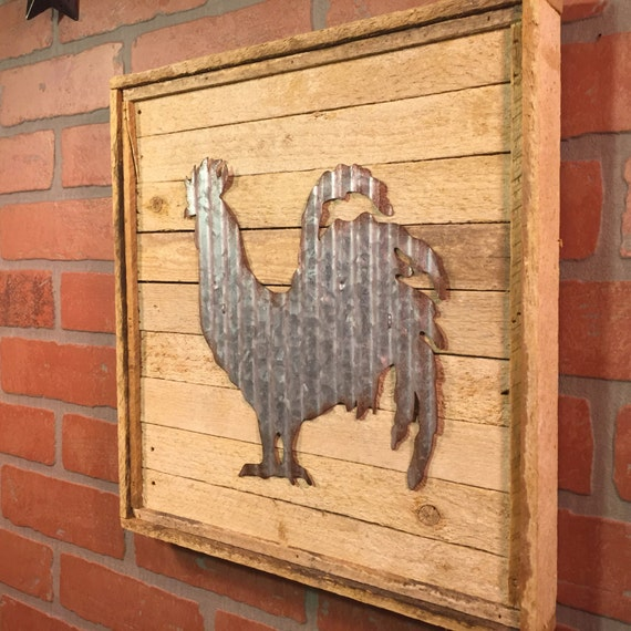 Kitchen Metal Wall Decor: Metal Rooster Decor Rooster Kitchen Decor Farmhouse Rustic