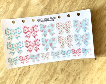 Shabby Chic Bow Stickers
