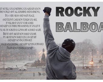 Rocky Balboa Quote V3 Poster Printed on Premium Glossy Photo Paper