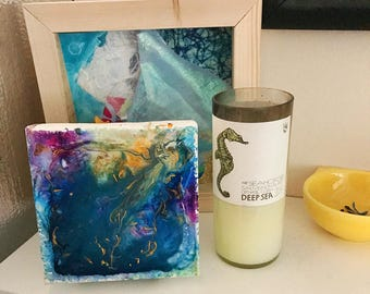 """Original 6"""" x 6"""" Abstract Paintings: Depth Collection"""