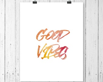 Good vibes only, Yoga studio decor, Home decor, Wall art, Wall decor, Beach decor, Zen artwork, Yoga art for bedroom, Yoga wall print