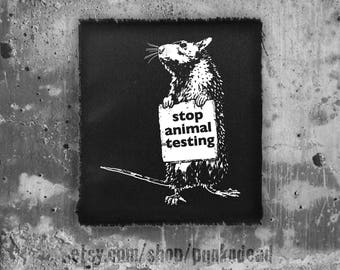 Rat Protest Patch • back patch • animal rights patch • punk patch • rat patch • protest patches • punk aufnäher • custom patches