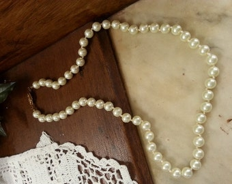 Faux Pearls Beautiful String Faux Pearls Bridal Pearl Necklace