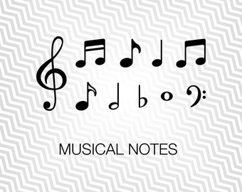 Music Notes Svg, Music, Graphic, Cutout, Vector art, Cricut, Silhouette Cameo, die cut, instant download, Digital Cut, Print Files, Pdf, Svg