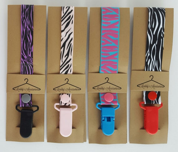 Handmade soother saver - ribbon pacifier clip - baby accessories
