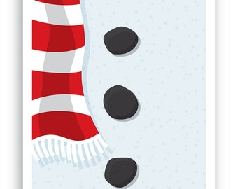 Close ups – Snowman Christmas Card