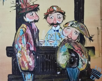 """Funny Original Oil Painting 