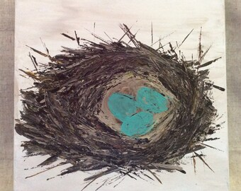 Bird Nest Original Painting