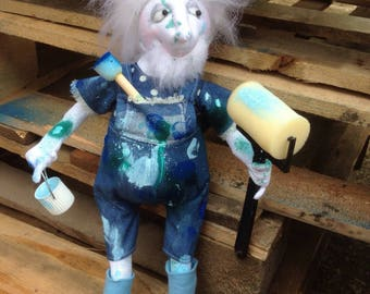 Growing Old Disgracefully Doll 'Percy The Painter' OOAK