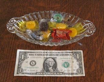 Glass Candy Dish, Glass Dish, Candy Dish, Relish Dish