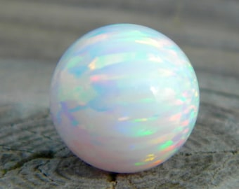 12mm Synthetic white opal marble stone for interchangeable jewelry