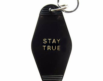 Stay True Key Tag Gold!