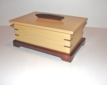 Jewelry Box, Wooden Jewelry Box, Handcrafted Wood Box, Keepsake Box