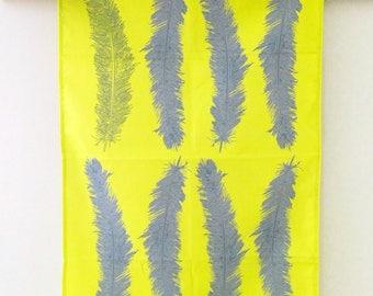 Vibrant Feather Tea towel