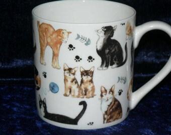 Cat 1 pint bone china mug cats CHINTZ different all around mug - personalised if required at no extra cost