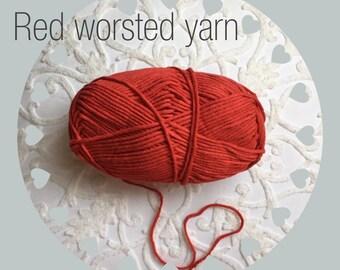 Worsted red yarn. Red yarn supply. Crochet/knitting yarn. Cotton/acrylic blend yarn. Soft red yarn. Craft yarn.