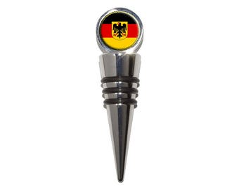 Flag Of Germany With Crest Wine Bottle Stopper Cork