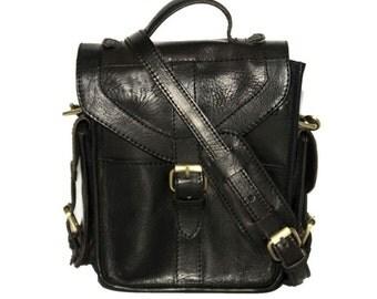 Professional Camera Bag (Black Gloss Leather)