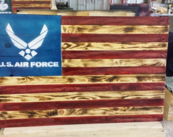 United States Air Force, Rustic, Reclaimed, Pallet Wood, Wall Hanging