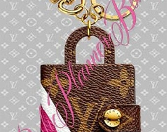 Handmade, Laminated, Louis Vuitton Agenda Bag Charm Dashboard to fit your Agendas/Planners/Organizers