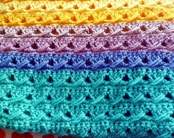 SALE OFF! Happy Colours - Baby/Child Blanket or Lap Blanket