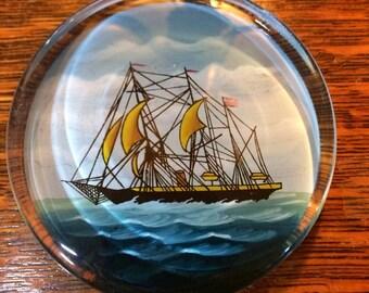 Vintage Sailboat Sail Ship Paperweight