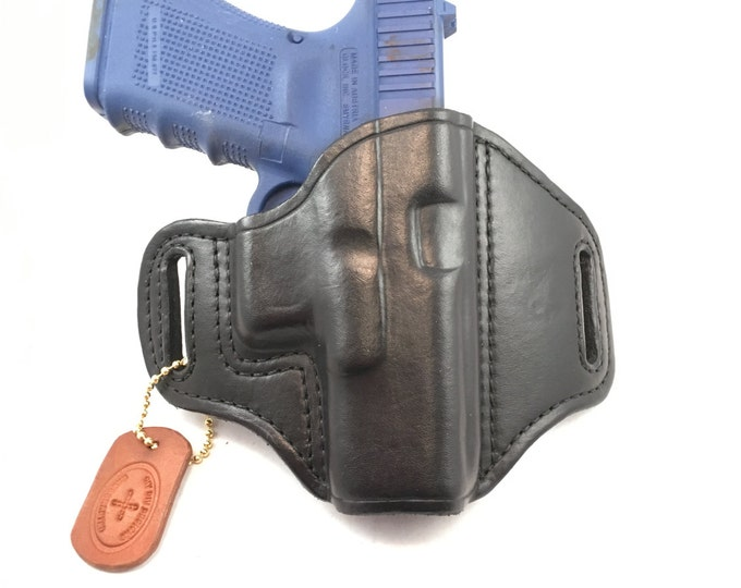 Glock 19 / 23 / 32 / 38 (zero cant) - Handcrafted Leather Pistol Holster