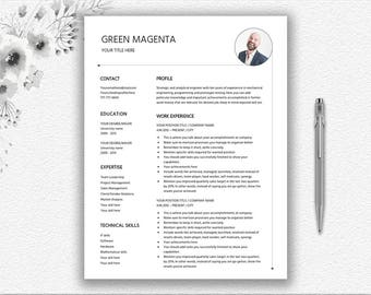Clean resume | Etsy