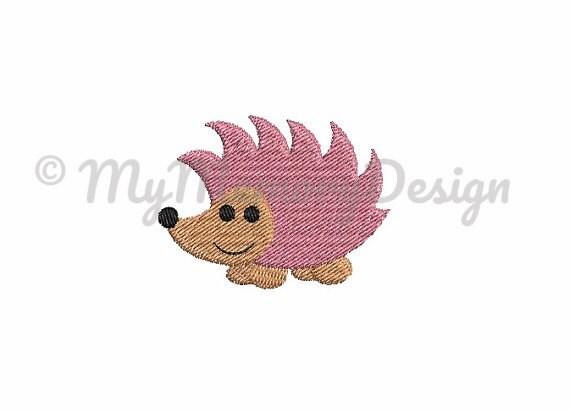 Hedgedog Embroidery Animal Embroidery Woodland Animal