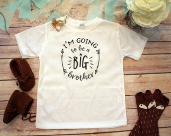 Im Going to be a Big Brother Shirt, Pregnacy Reveal Shirt, Future Big Brother Shirt, Hipster Baby Clothes, Family Shirts, Big Brother Little