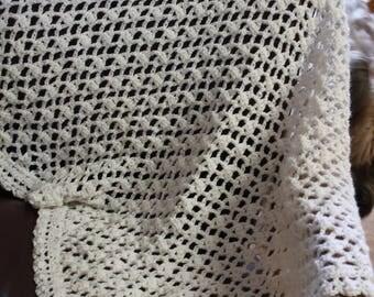 Open Weave Elegant Baby Blanket