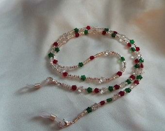 Christmas Stars Eyeglass Chain