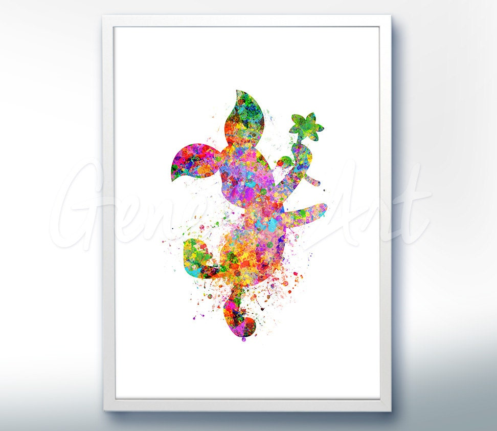 Disney winnie the pooh piglet watercolor poster print wall zoom amipublicfo Images