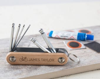 Personalised Wooden Bicycle Allen Keys Tool Kit