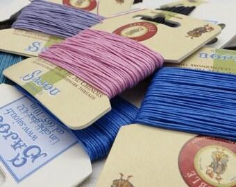 Waxed Linen Thread / Linen Thread / Book Binding Cord / LeatherWork Cord / Beading Floss / Jewellery Cord / Cable Linen / Waxed Linen /  20m