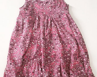 Toddler girls Dress, boho dress, high low dress, tank top dress,