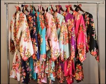 Set of 1,2,3,4,5,6,7,8,9 bridesmaid robe, bridesmaid gift, gift for bridesmaid, robe for bridesmaid, bridesmaid robe, bridal party robe
