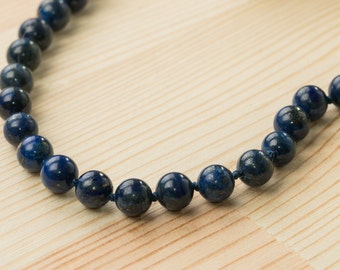 Lapis lazuli necklace blue necklace beaded necklace intuition necklace healing necklace meditation necklace throat chakra necklace statement