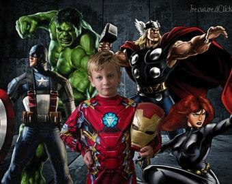 Avengers Superhero digital background for photoshop