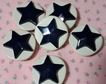 Half Dozen Matching Vintage Buttons