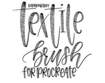 Textile Brush for Procreate | iPad Lettering | The Pigeon Letters