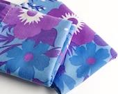 Retro Pillowcases, Purple flowers pillowcases, Vintage Pillowcases, Retro purple Flower Pillowcases